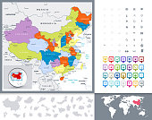 China Political Map and Map Pointers