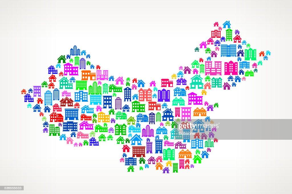 China Real Estate royalty free vector art Pattern
