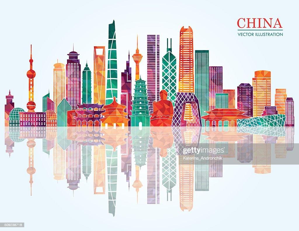 China skyline. Vector illustration
