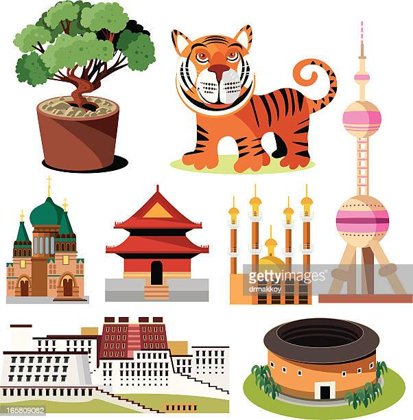 china symbole - asien stock-grafiken, -clipart, -cartoons und -symbole