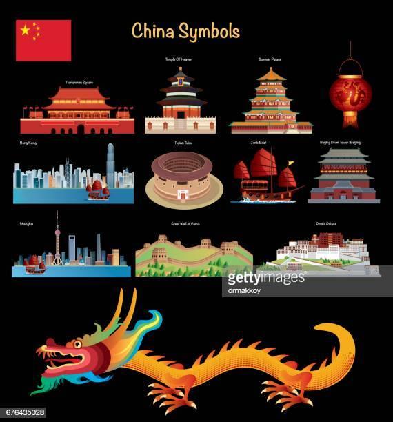 china symbols - pagoda stock illustrations, clip art, cartoons, & icons