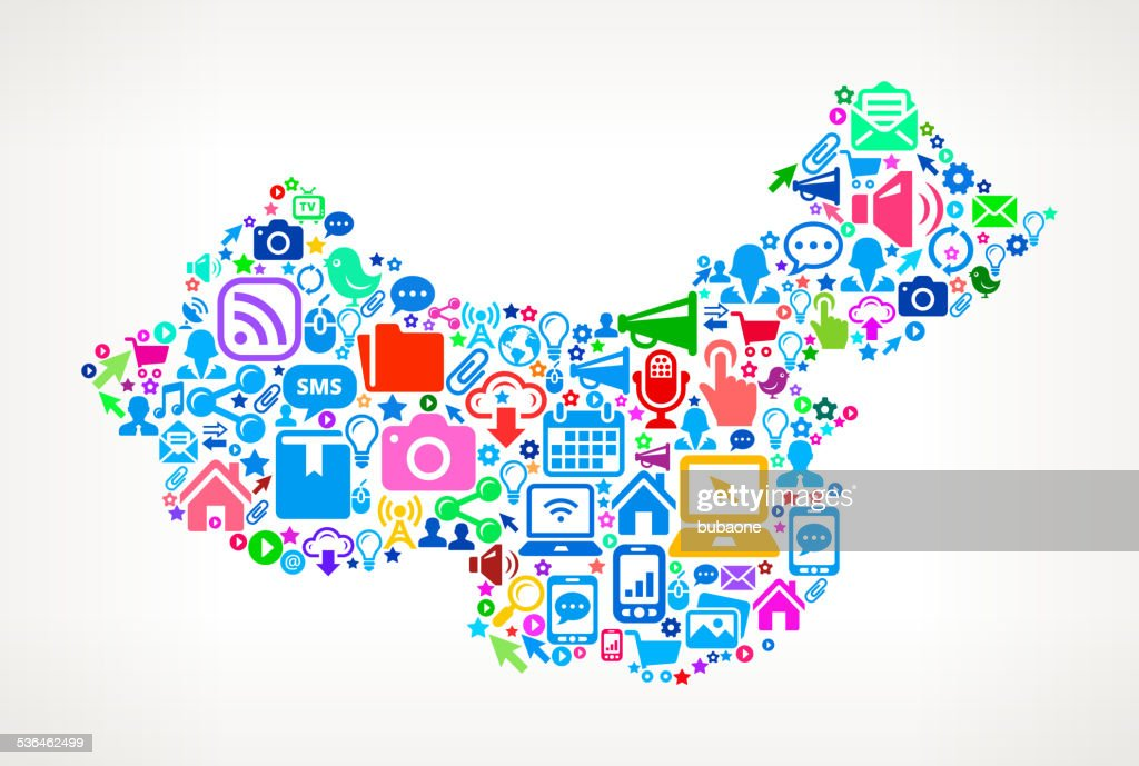 China Technology And Internet Royalty Free Vector Art