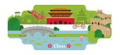 China Travel and Attraction Landmarks