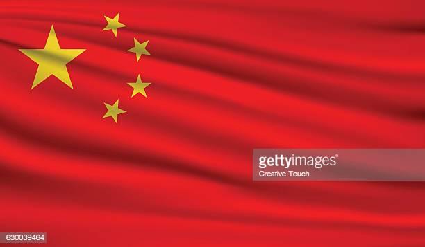 china - chinese flag stock illustrations