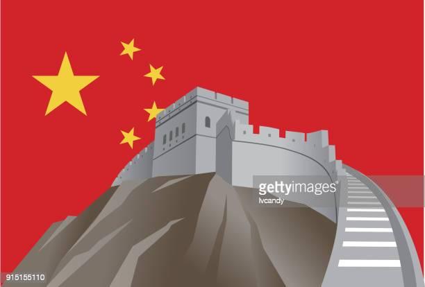 ilustraciones, imágenes clip art, dibujos animados e iconos de stock de china - granmurallachina