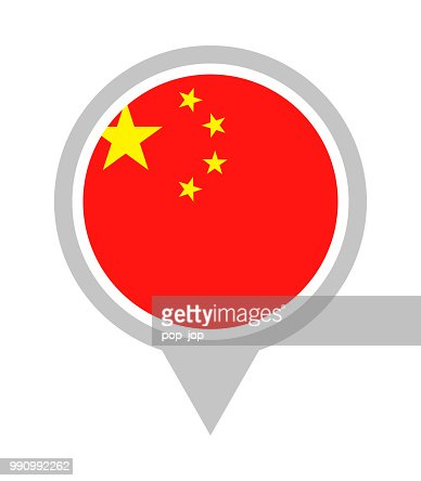 China Vector Round Flag Pin Flat Icon High Res Vector Graphic Getty Images