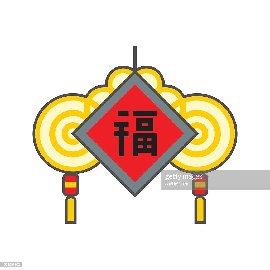 Chinese Amulet Line Icon