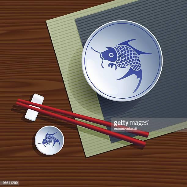 chinese bowl - chopsticks stock illustrations, clip art, cartoons, & icons