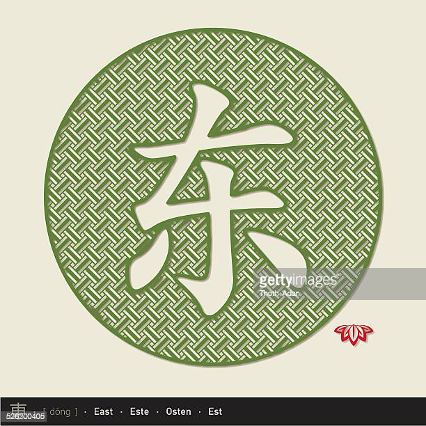 Chinese character east (Chinese paper cut)