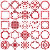 Chinese decorative icons.