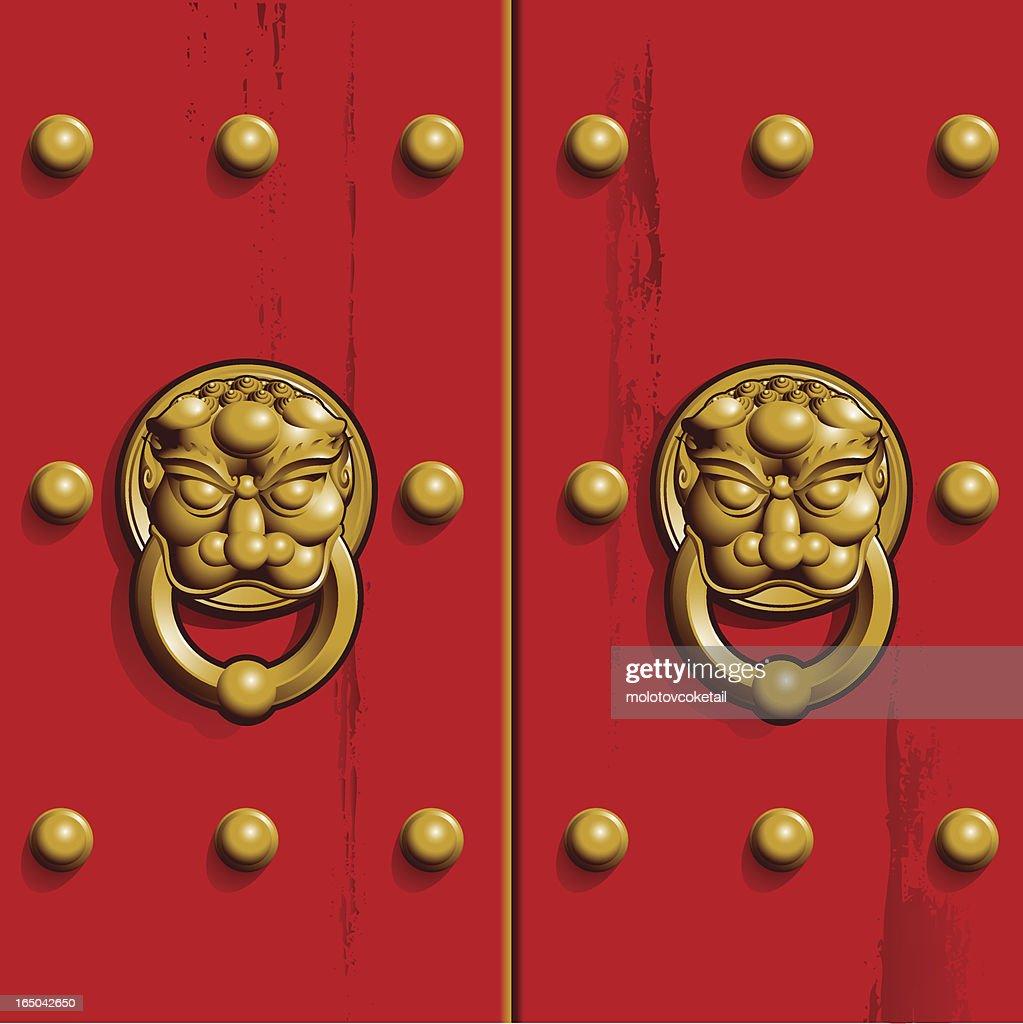 Chinese Door : Vector Art