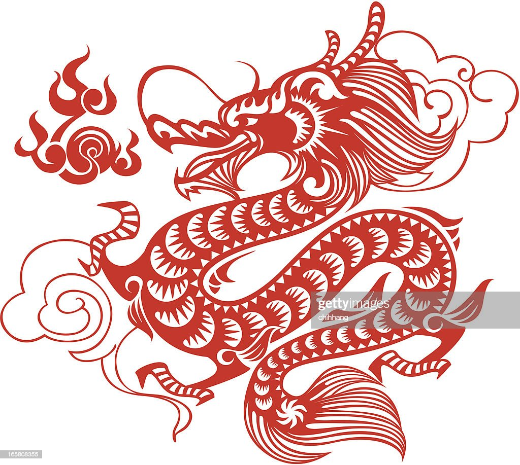 chinese dragon art vector art getty images