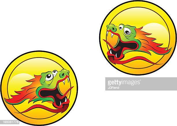 Chinese Dragon Heads
