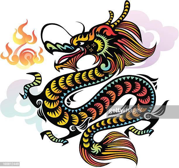 Dragón chino (chapado en oro