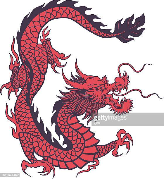 chinese dragon - chinese culture stock illustrations