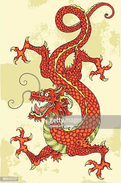chinese dragon - chinese dragon stock illustrations