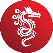 Chinese dragon vector illustration.