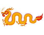 Chinese dragon. Vector illustration.