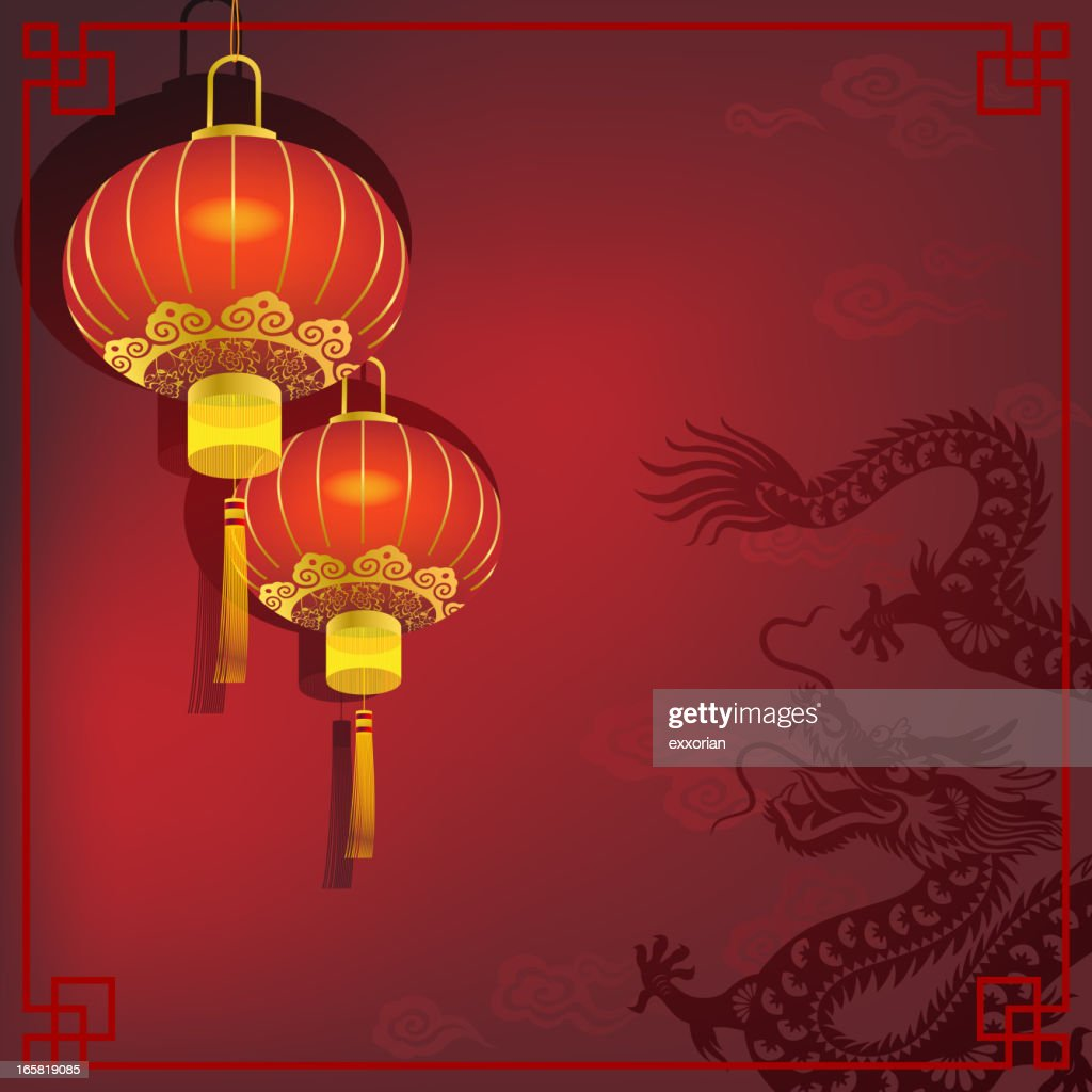 Chinese Dragon with Red Lantern