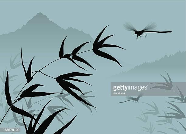 chinese dragonfly - odonata stock illustrations, clip art, cartoons, & icons
