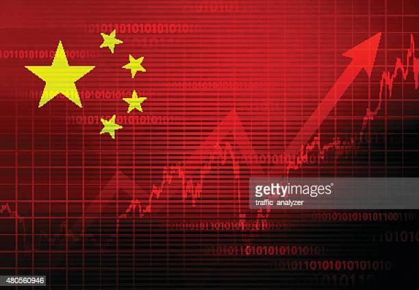 ilustrações, clipart, desenhos animados e ícones de economia chinesa fundo - dado de bolsa de valores