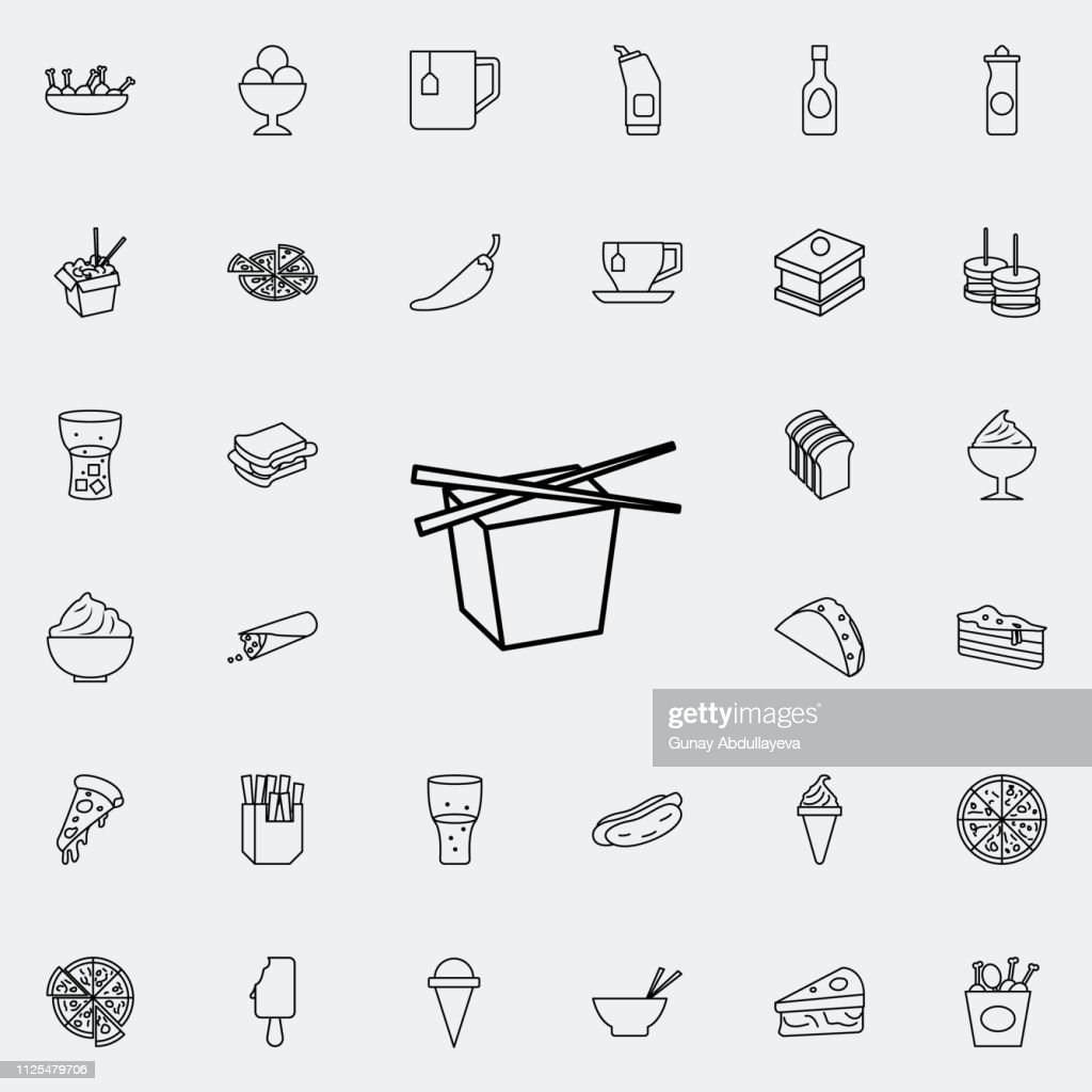 Chinese fast food icon. Fast food icons universal set for web and mobile