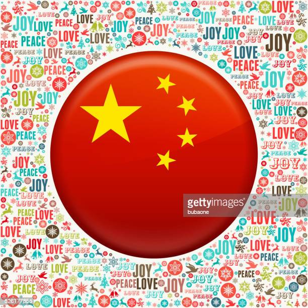 chinese flag on holiday christmas background pattern - national holiday stock illustrations, clip art, cartoons, & icons