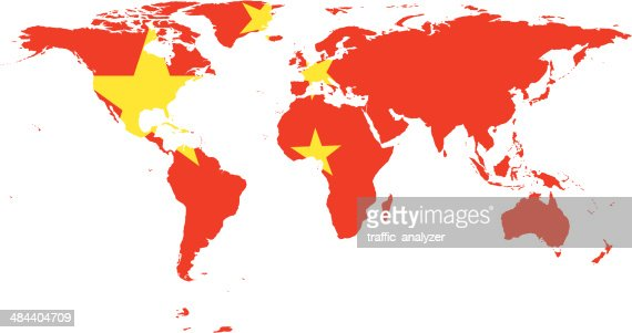 Chinese map of the world - Chinese world map (Eastern Asia
