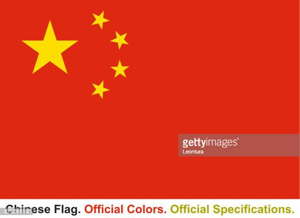 Chinese Flag (Official Colors, Official Specifications)