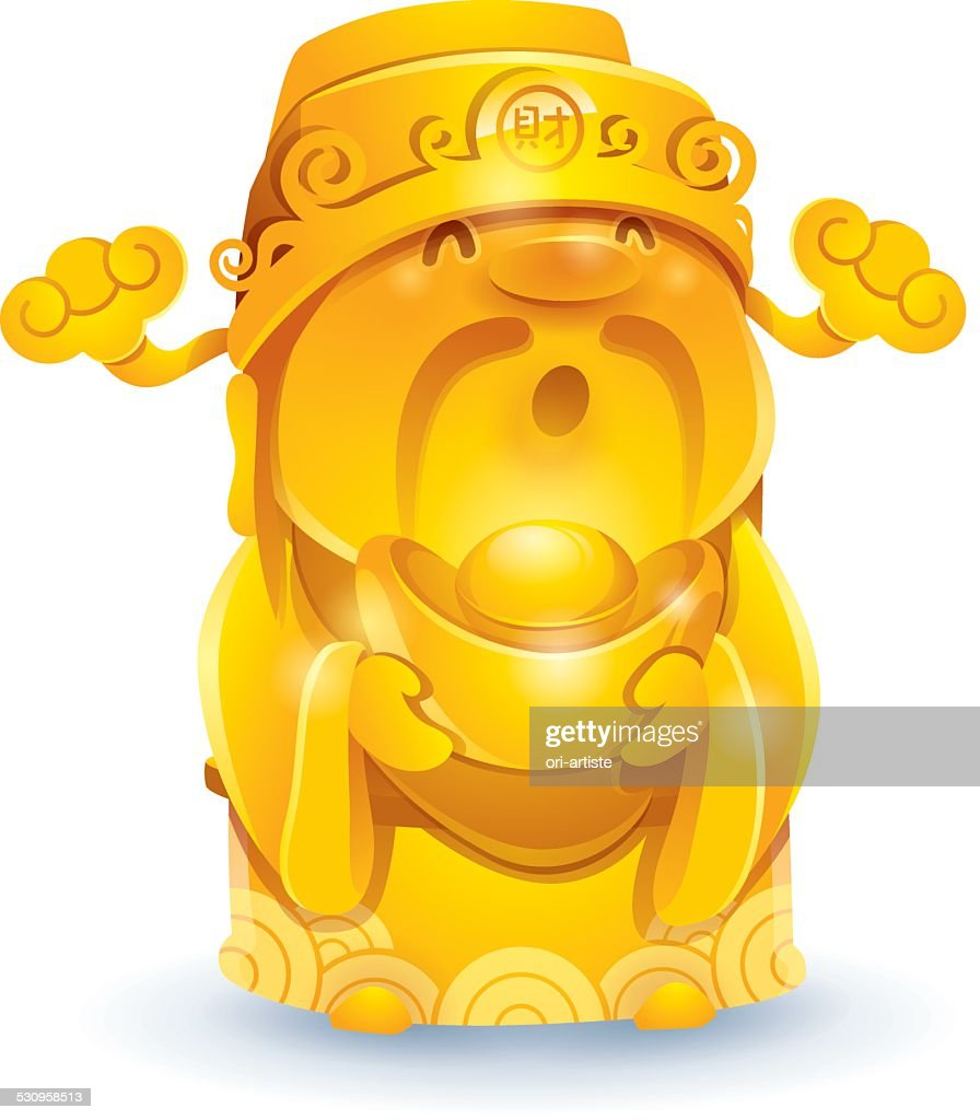 Chinese God of Wealth - Golden.