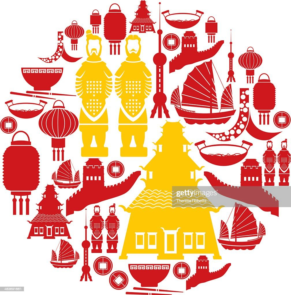Chinese Icon Set Vector Art | Getty Images