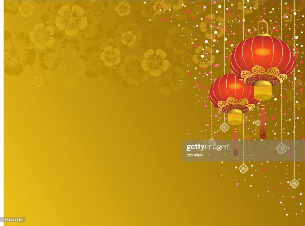 Chinese Lantern Background Vector Art