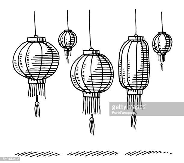 Illustrations et dessins anim s de lampion getty images - Dessin lampion ...