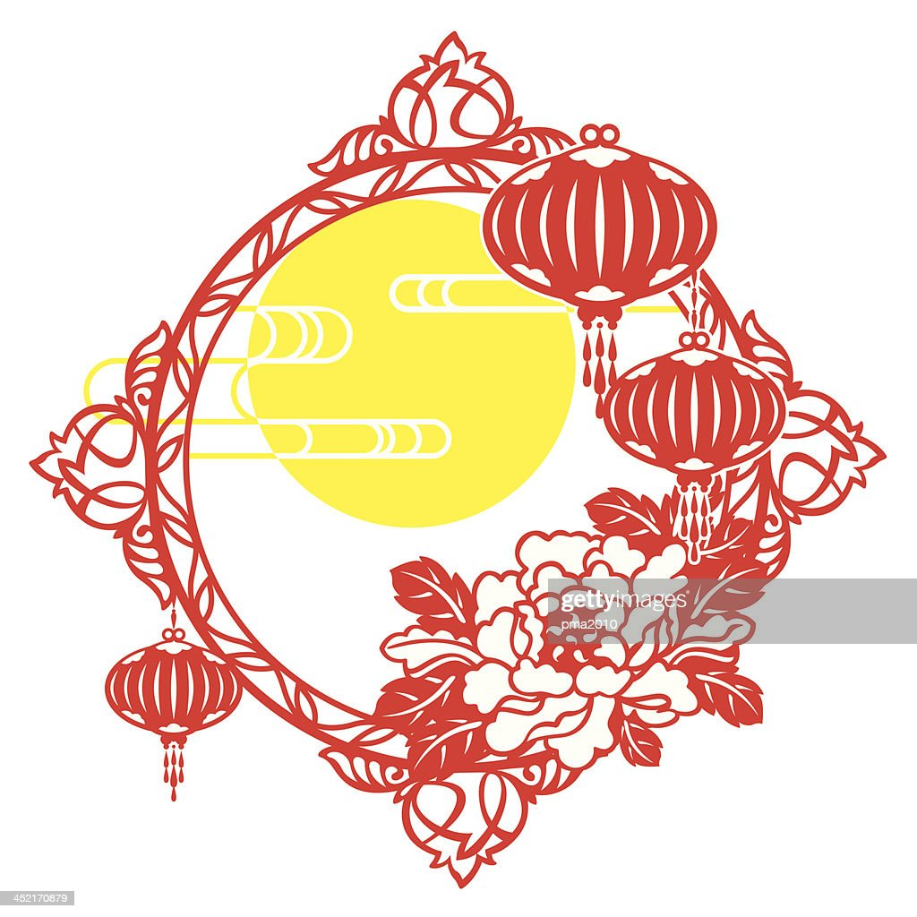 chinese mid autumn festival and new year design vector art