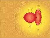Chinese New Year day - Red lanterns