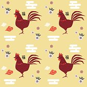 Chinese New Year of Rooster pattern