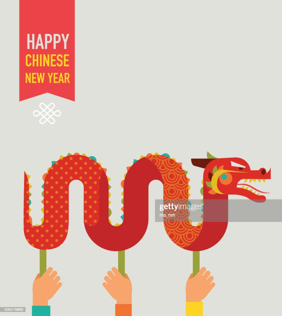 Chinese New Year - Red Dragon