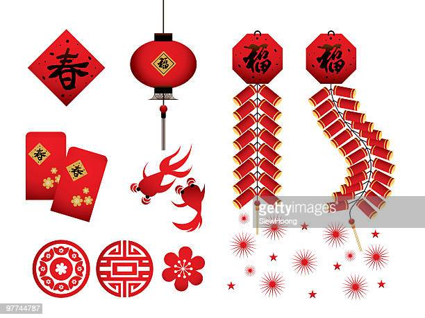 Chinese New Year Red Icons