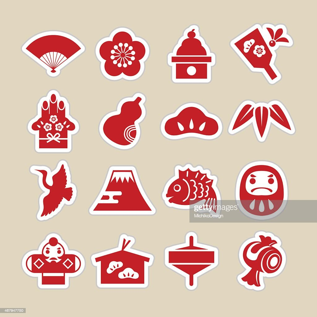 Chinese New Year related icons