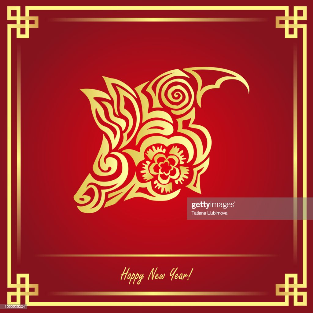 2019 Chinese New Year (year of the pig), vector illustration in paper cut style.