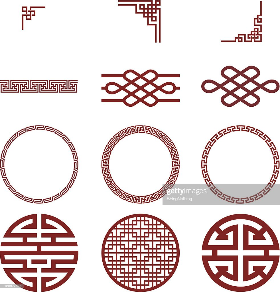 Chinese paper and traditional pattern