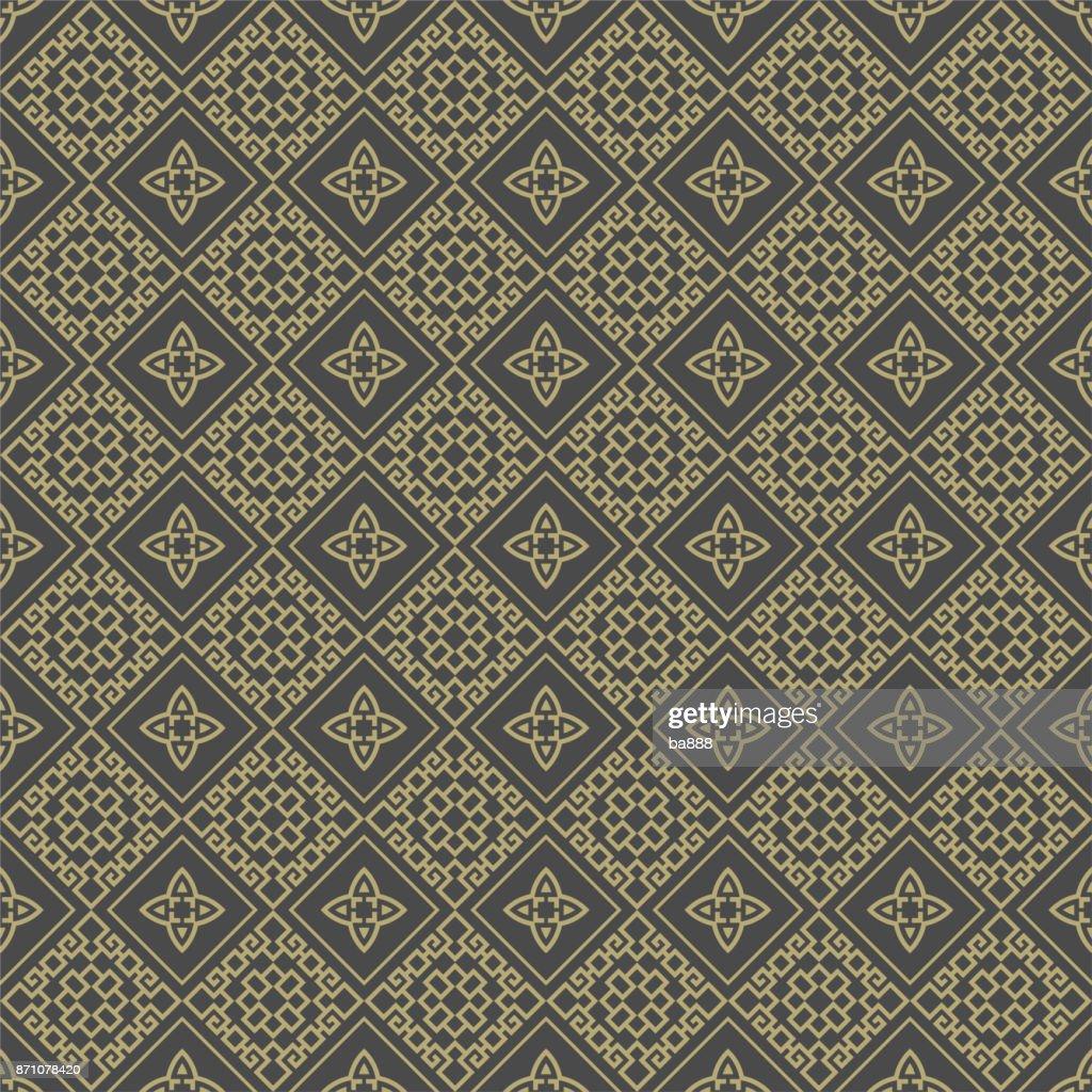 Chinese pattern, geometric background