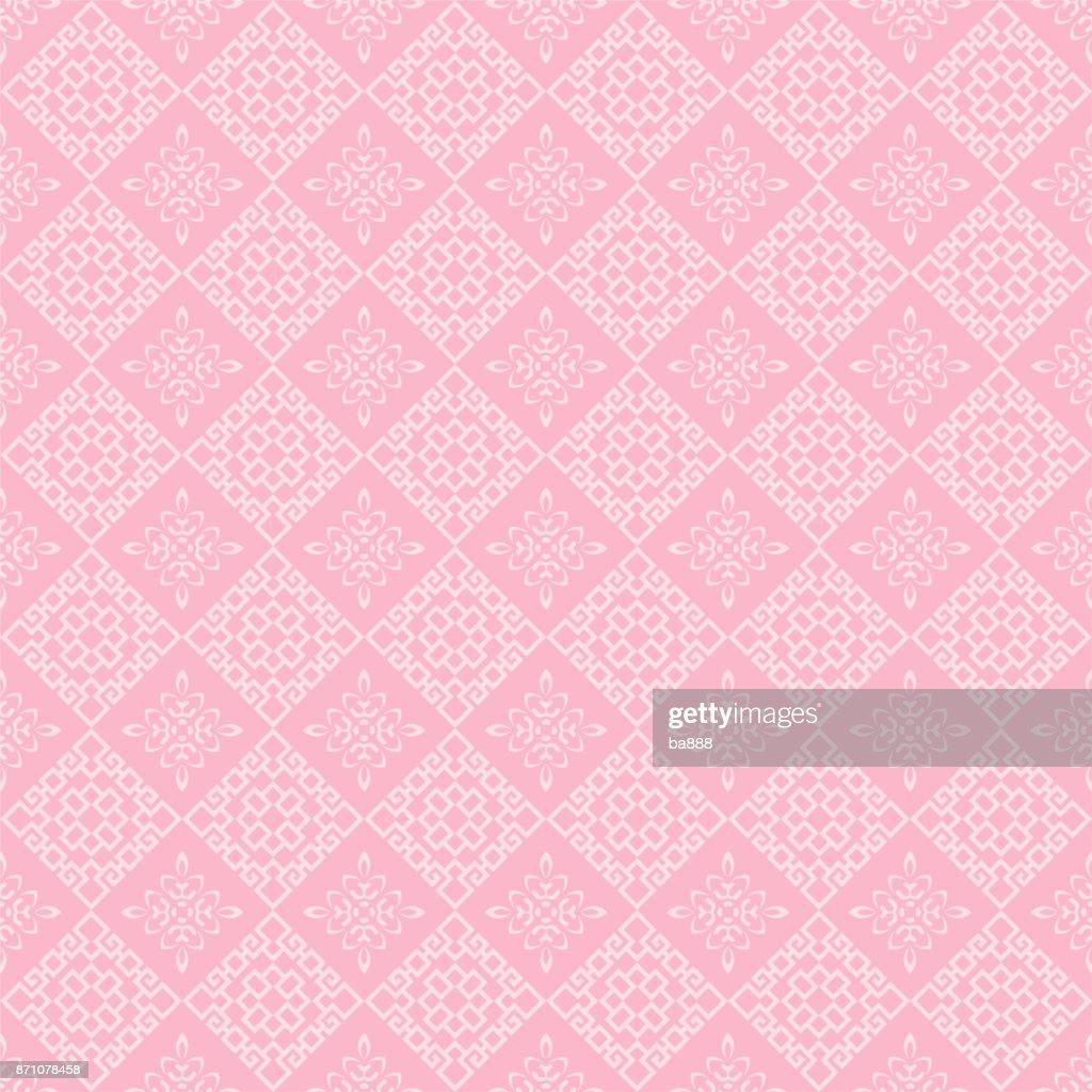 Chinese pattern, pink background