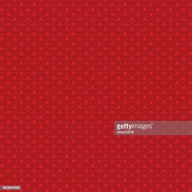 Chinesische nahtlose Muster mit geschweiften Linien Hintergrund