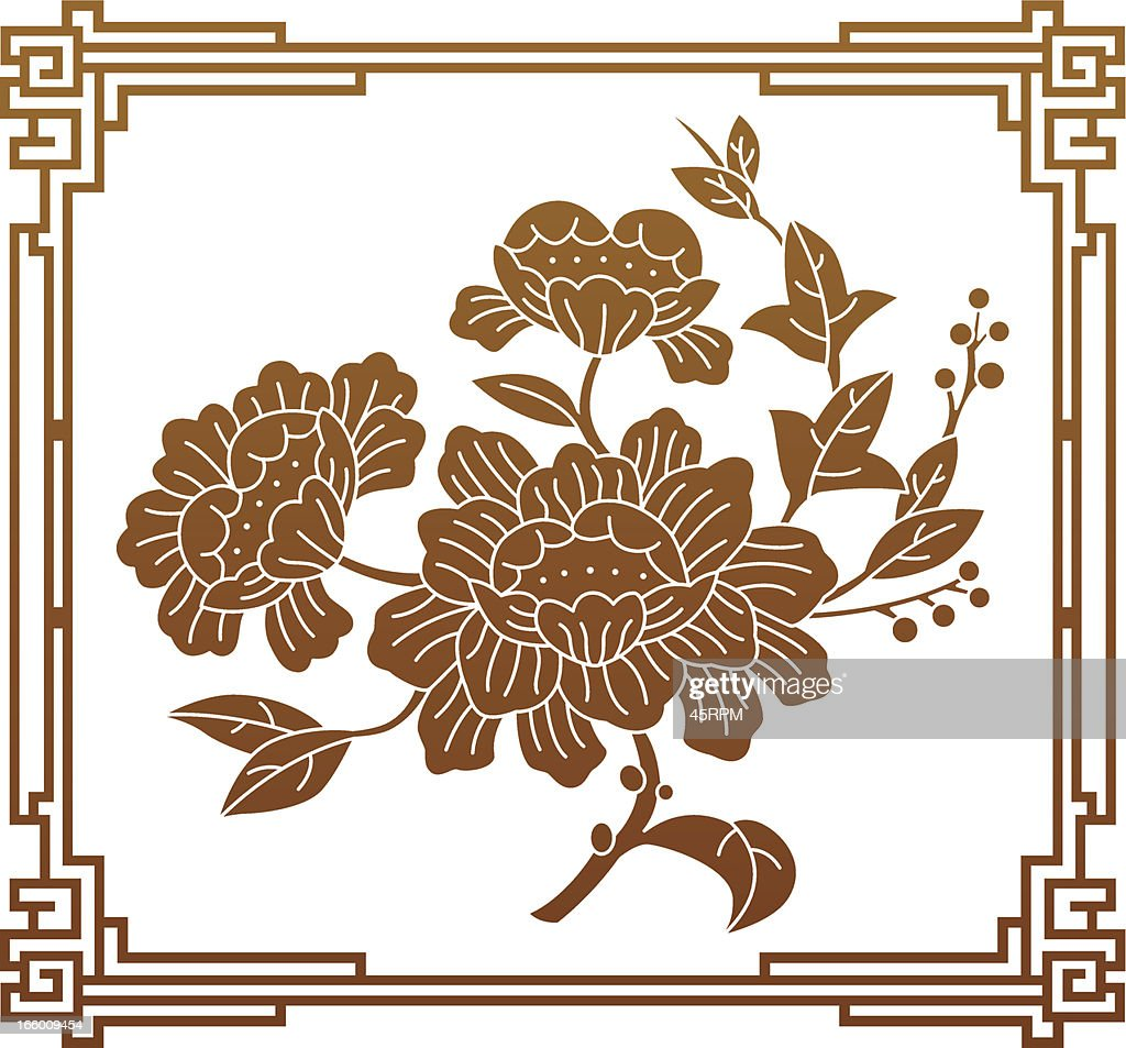 Chinese Style Flower Graphic