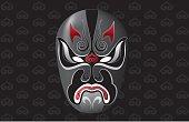 Chinese traditional Opera Mask Illustration