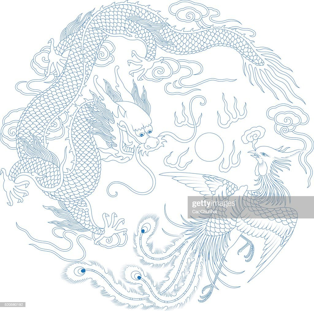 Chinese Traditional Pattern(Dragon and Phoenix)