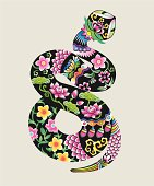 Chinese Traditional Snake Graphic