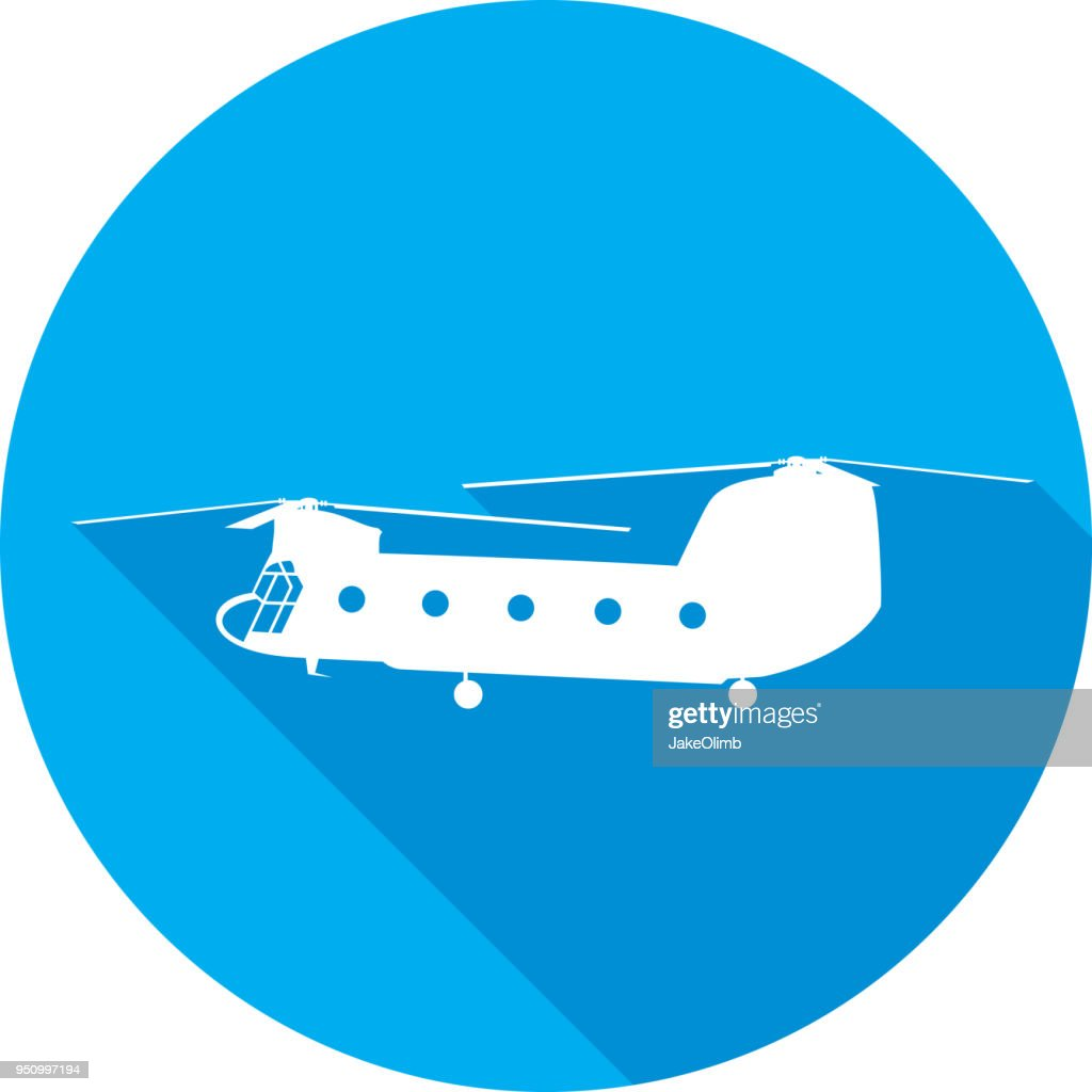Chinook Helicopter Icon Silhouette