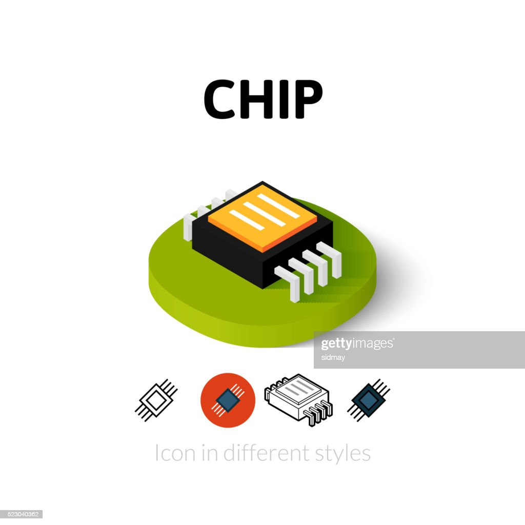 Chip icon in different style
